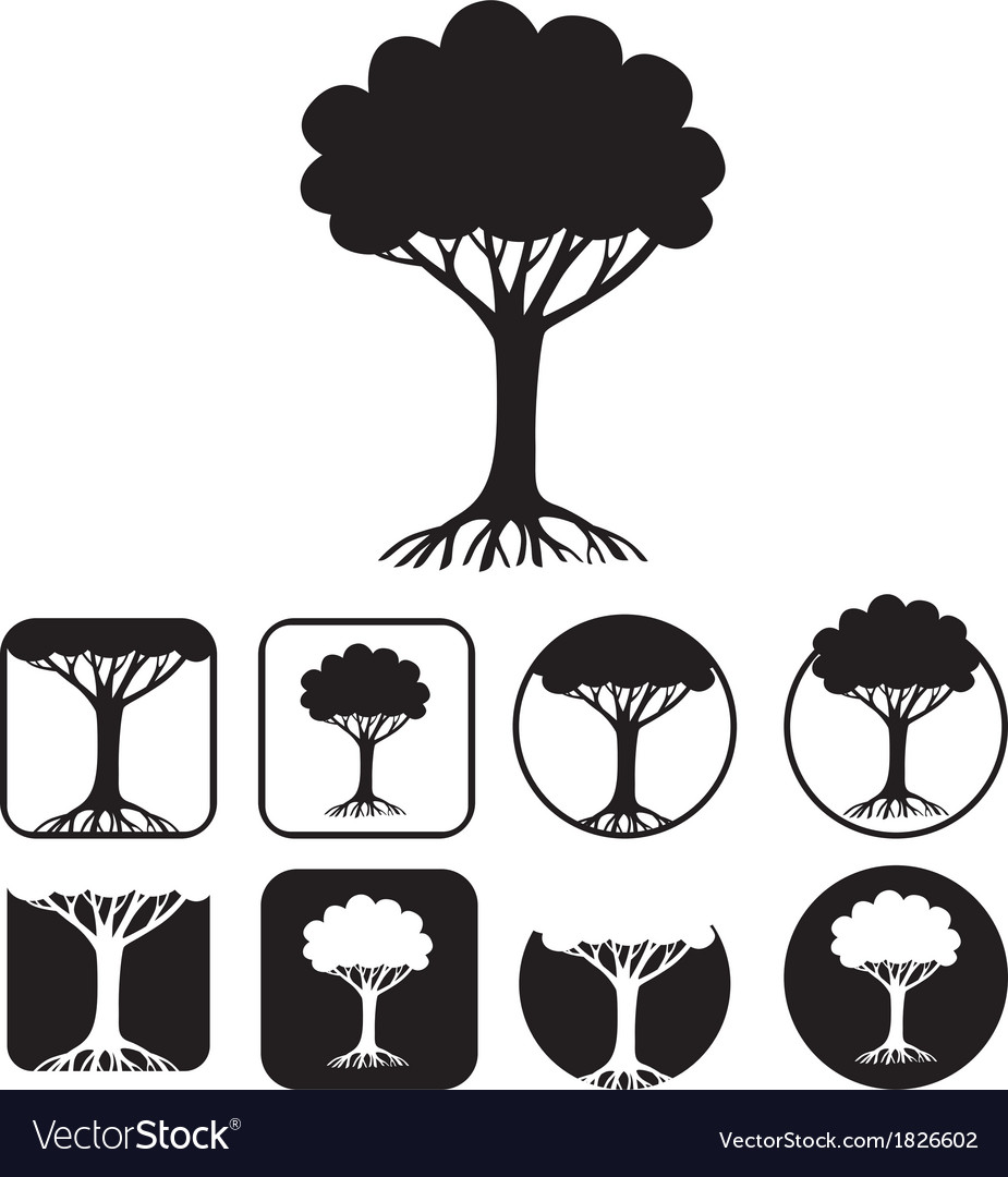 Tree emblem vector | Price: 1 Credit (USD $1)