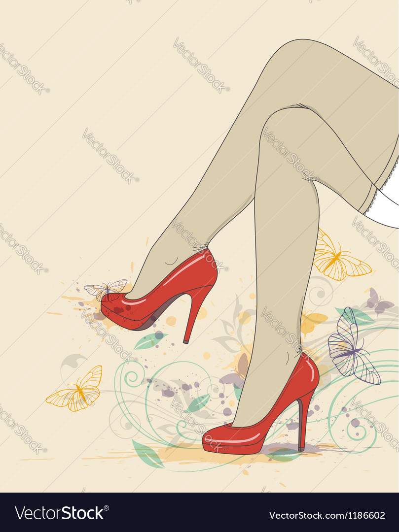 Woman legs abstract vector | Price: 3 Credit (USD $3)