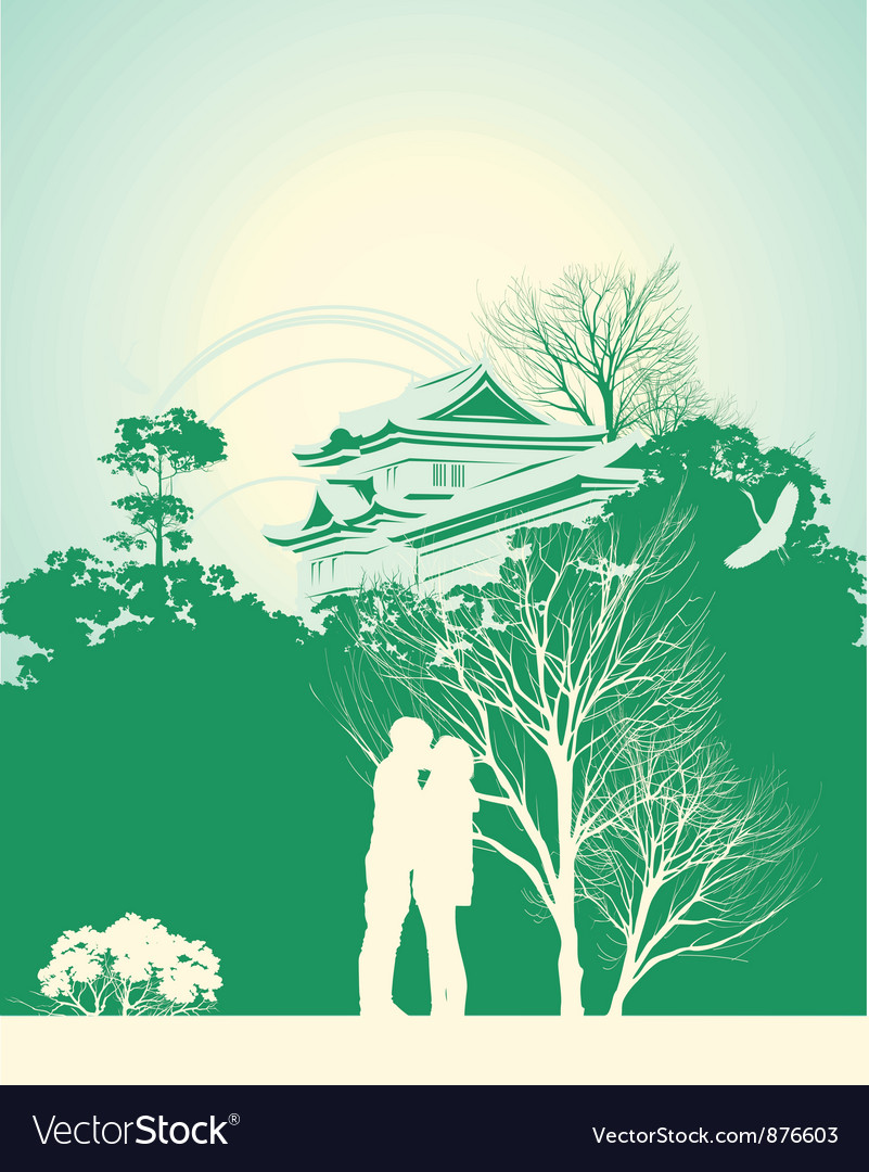 Couple kissing vector | Price: 1 Credit (USD $1)