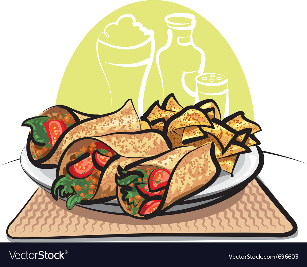 Fajitas and nachos chips vector | Price: 3 Credit (USD $3)
