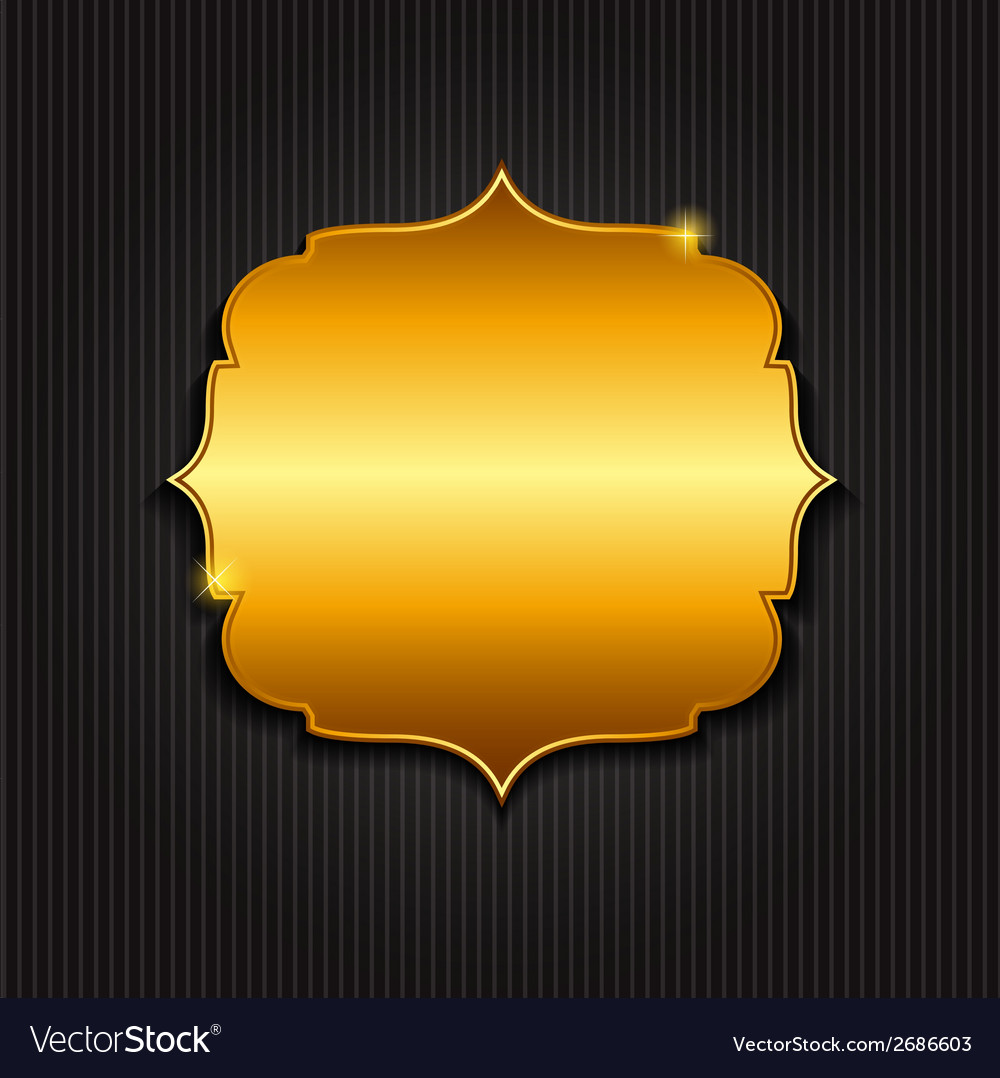 Golden shiny frame vector | Price: 1 Credit (USD $1)