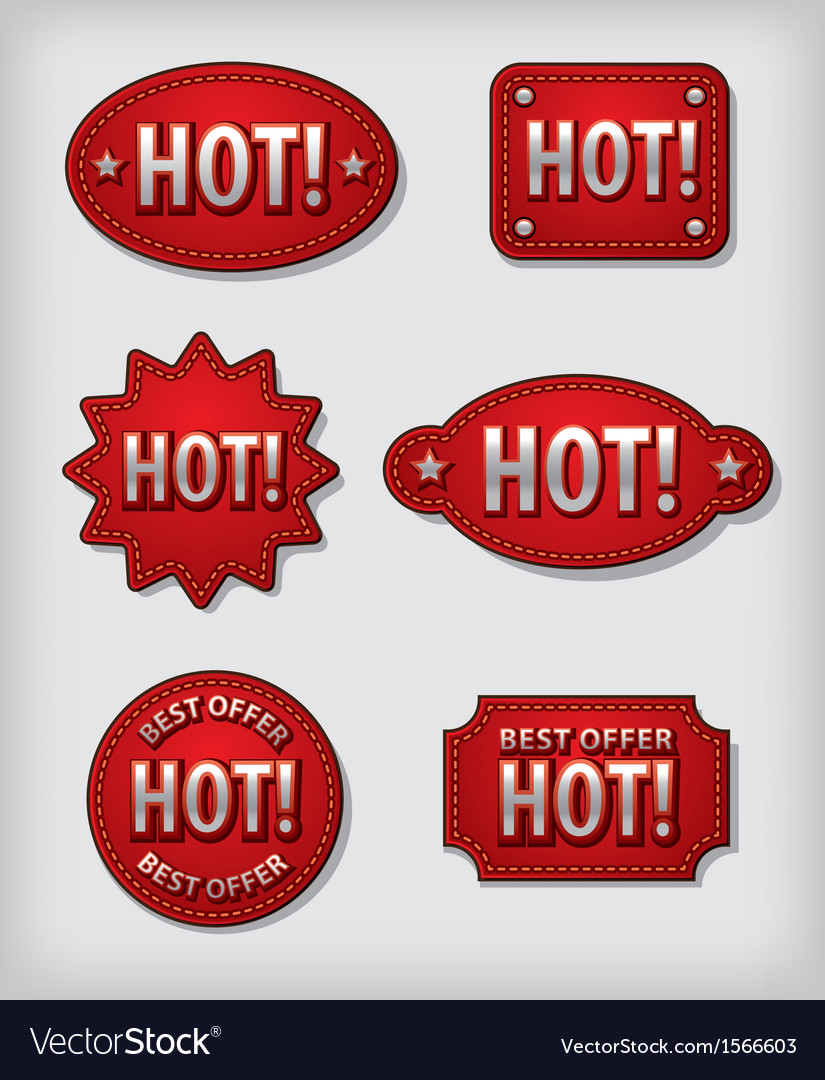 Hot labels vector | Price: 1 Credit (USD $1)