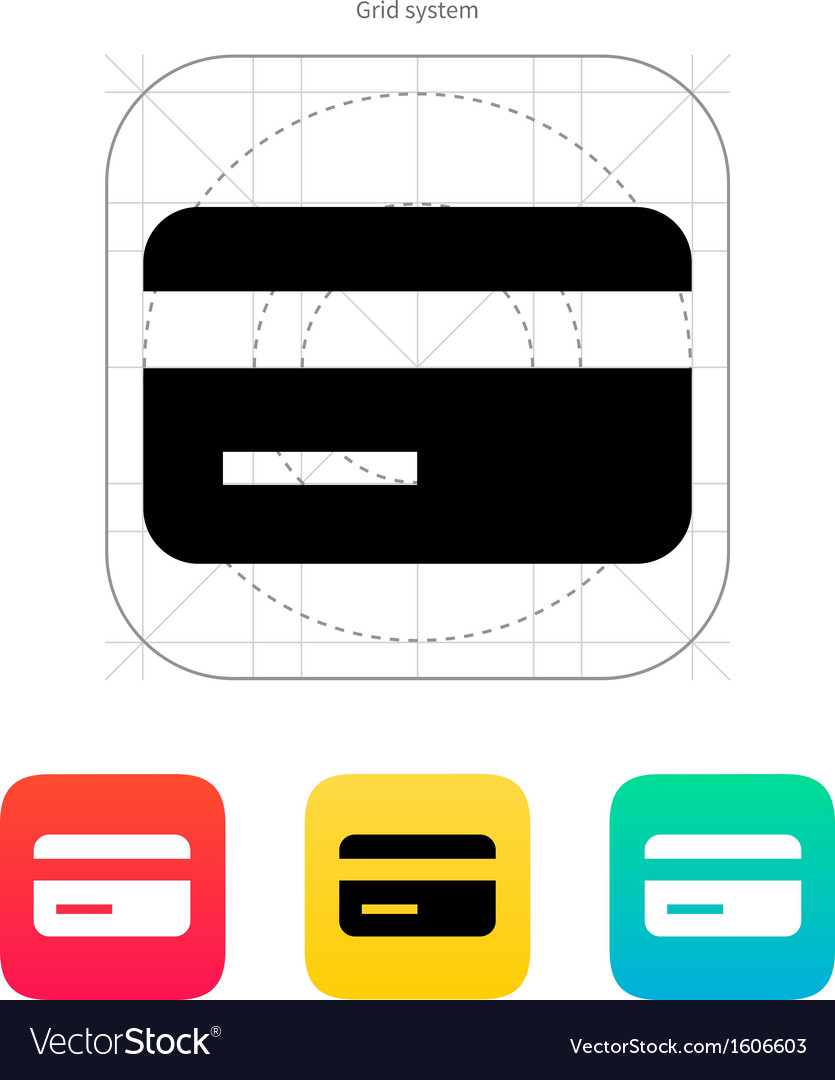 Magnetic tape credit card icon vector | Price: 1 Credit (USD $1)