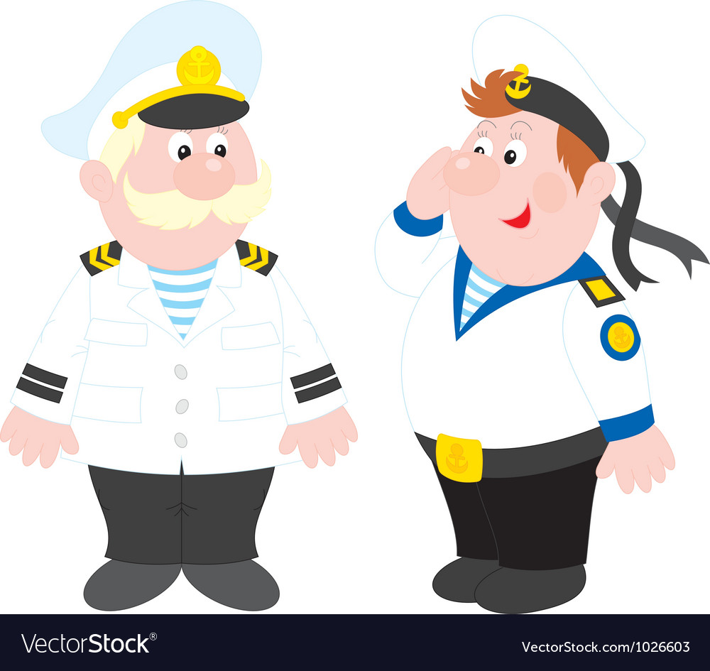 Sea captain and sailor vector | Price: 1 Credit (USD $1)