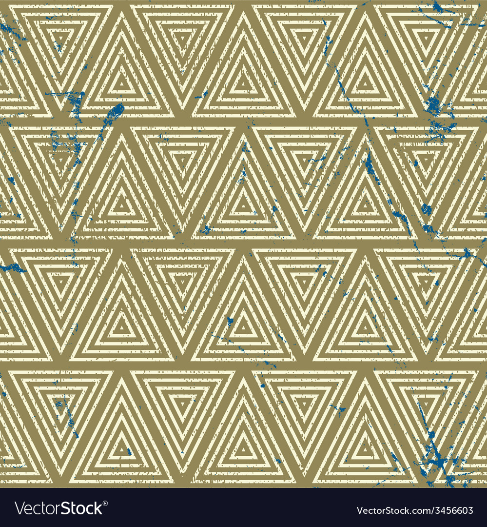 Vintage geometric seamless pattern old repeat vector | Price: 1 Credit (USD $1)