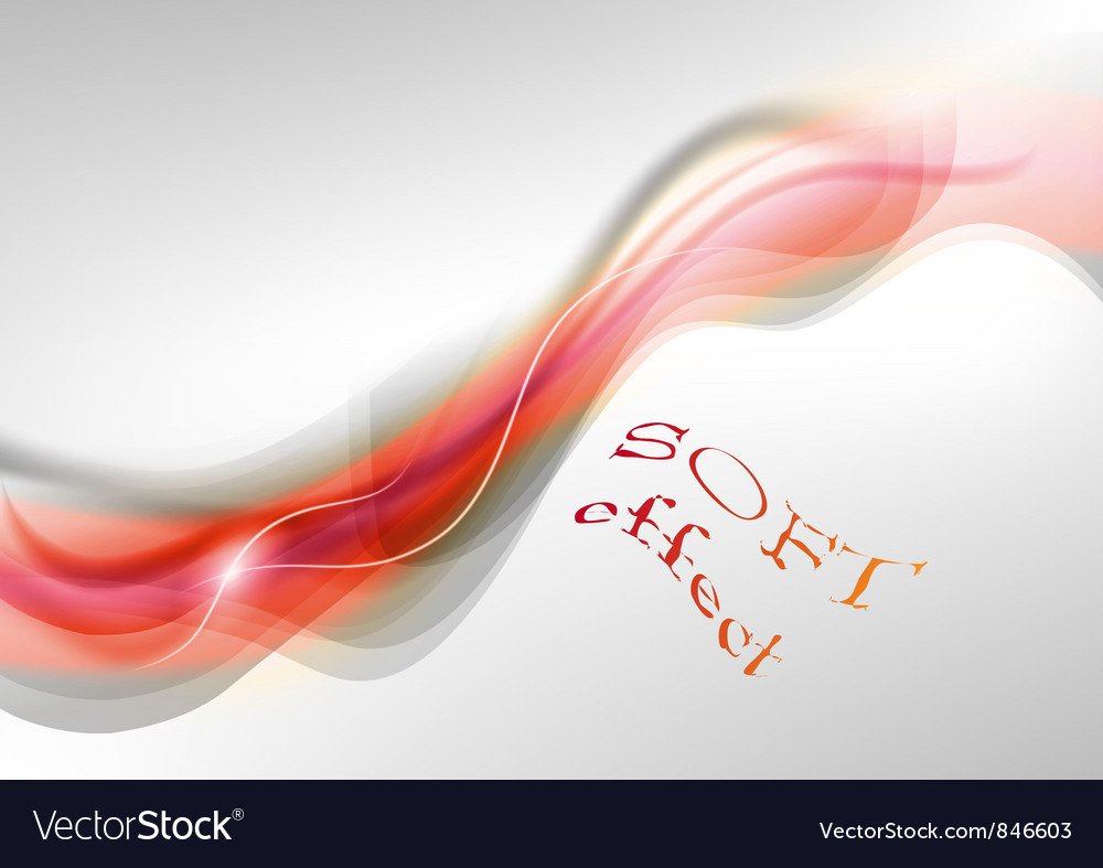 Wave neon light white curve orange soft vector | Price: 1 Credit (USD $1)