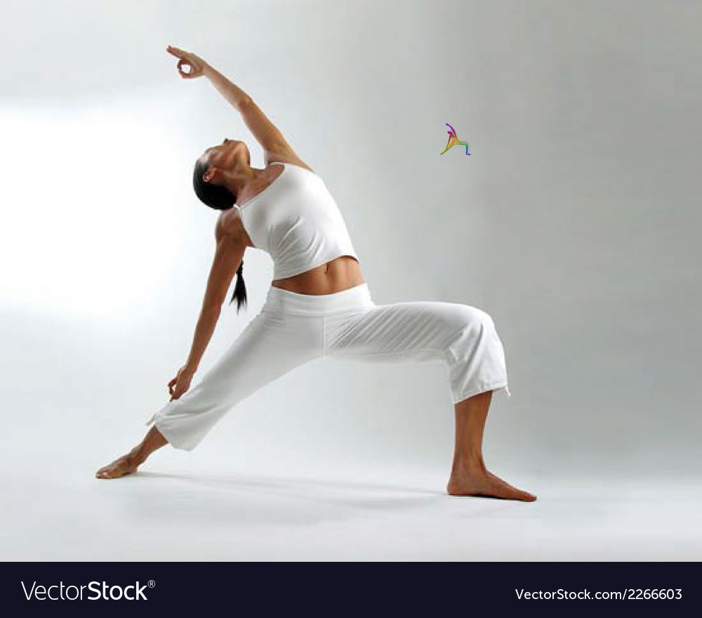 Yoga pose abstract color background vector | Price: 1 Credit (USD $1)