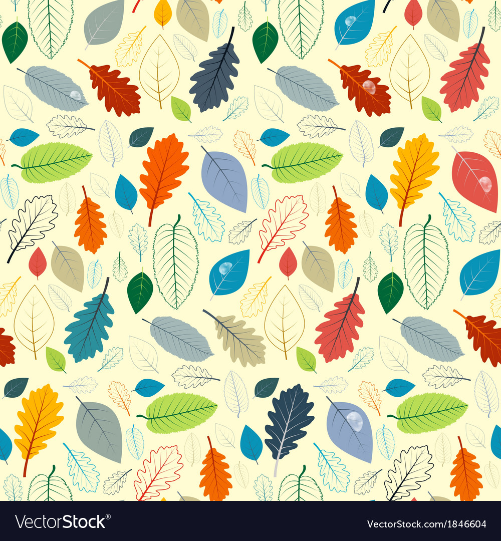 Abstract seamless pattern - autumn leaves vector | Price: 1 Credit (USD $1)