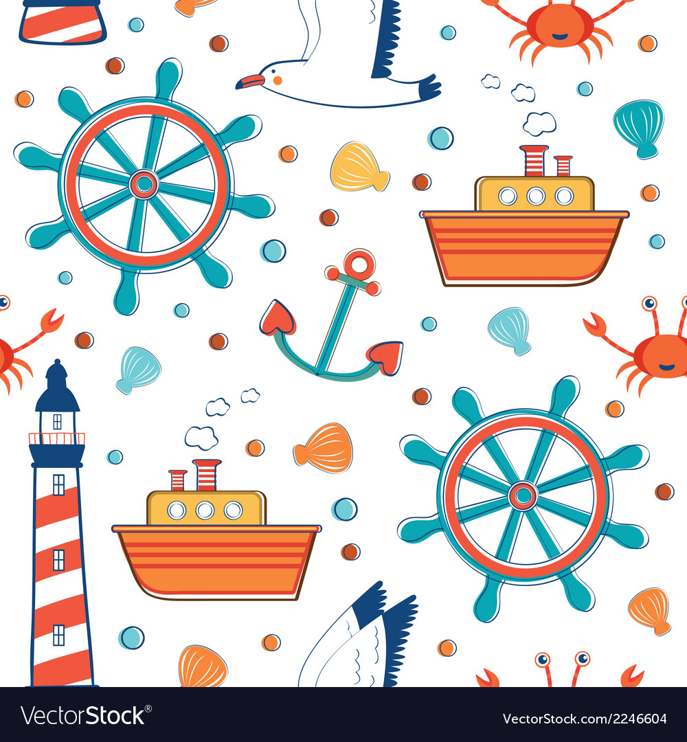 Colorful sea pattern vector | Price: 1 Credit (USD $1)