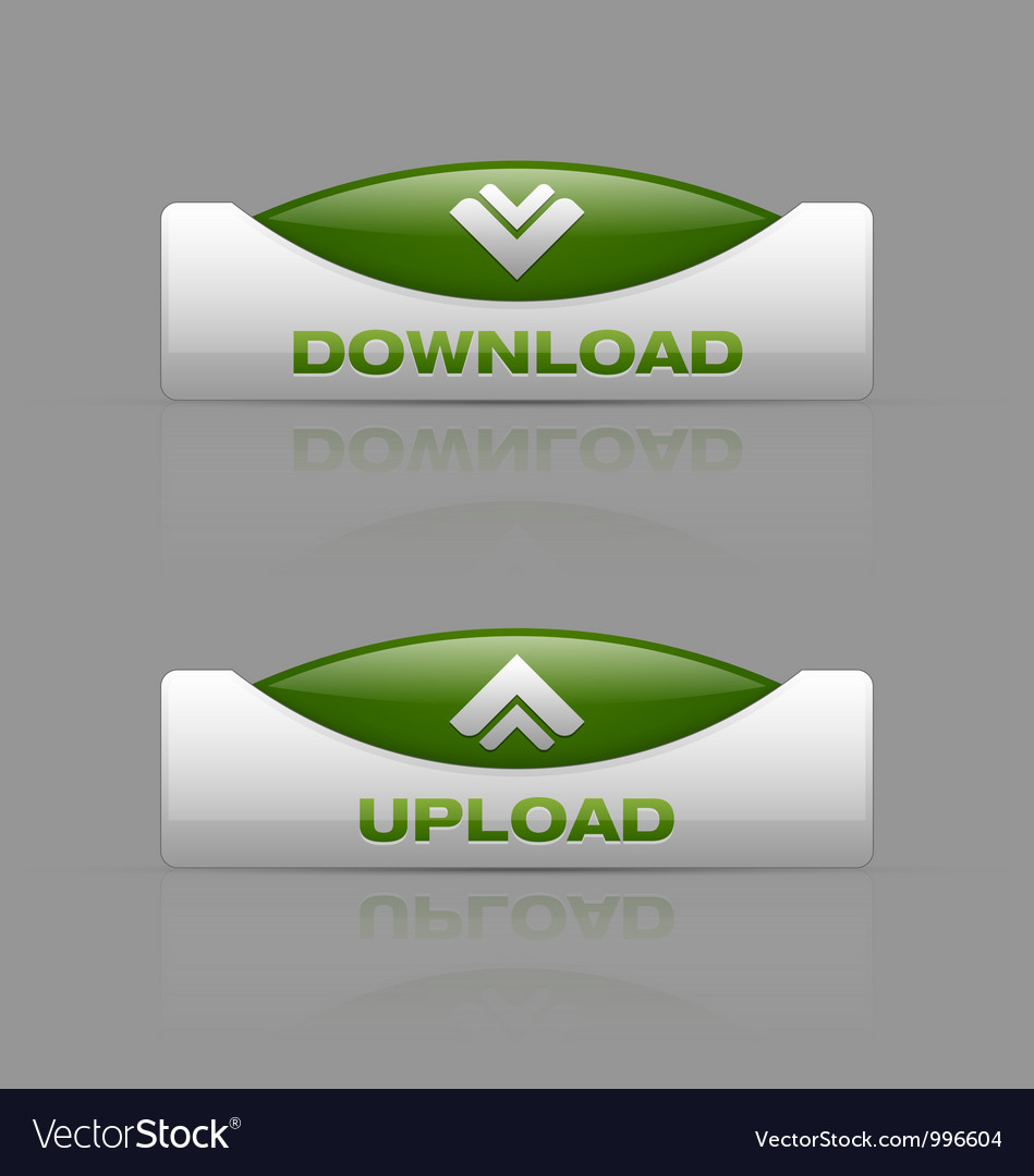 Download and upload buttons vector | Price: 1 Credit (USD $1)