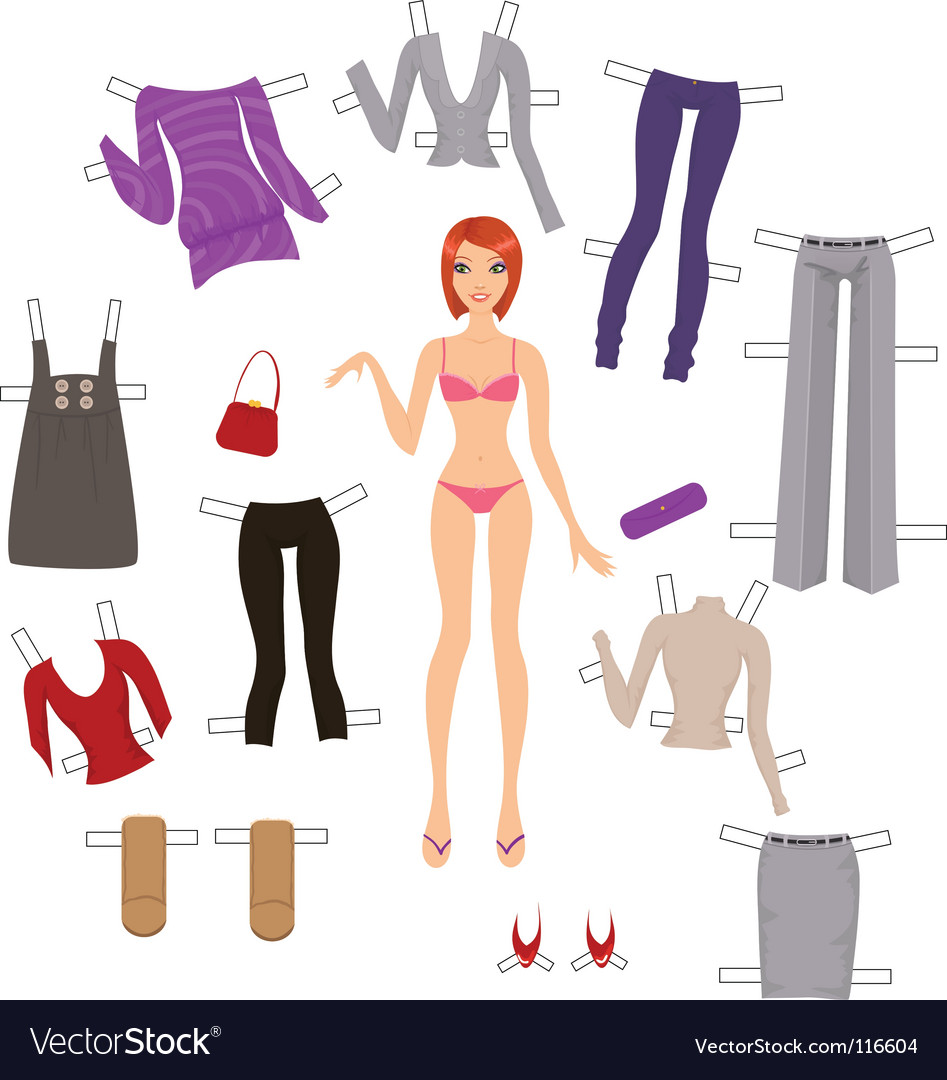Dress up paper doll vector | Price: 1 Credit (USD $1)