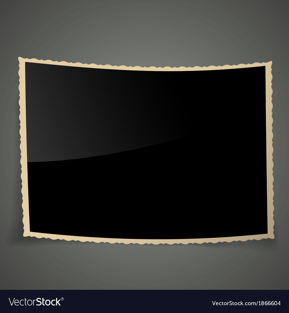 Empty vintage photo frame background vector | Price: 1 Credit (USD $1)