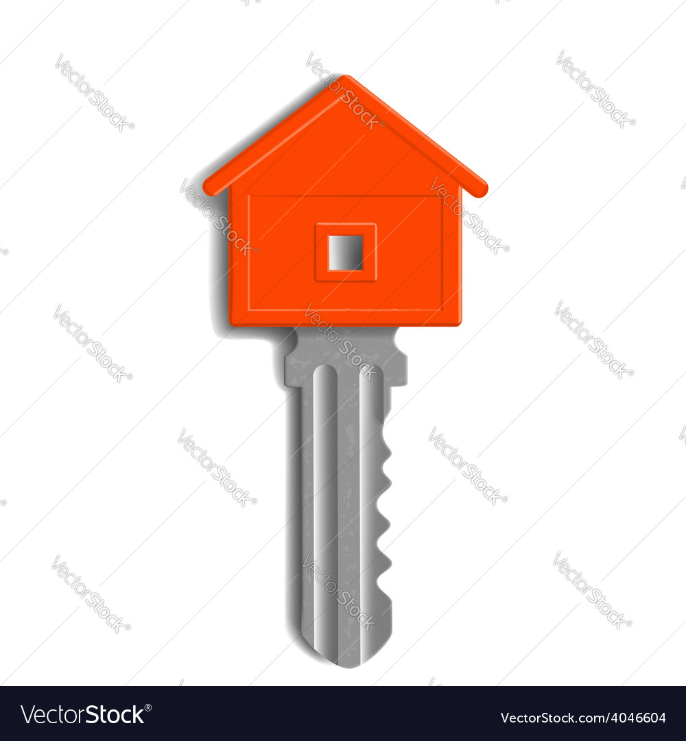 Key to the lock in the form of house isolated on vector | Price: 1 Credit (USD $1)
