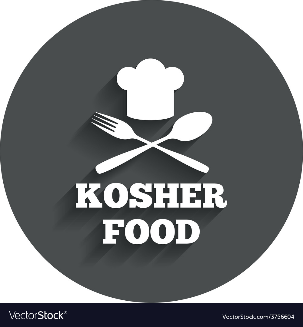 Kosher food product sign icon natural food vector | Price: 1 Credit (USD $1)