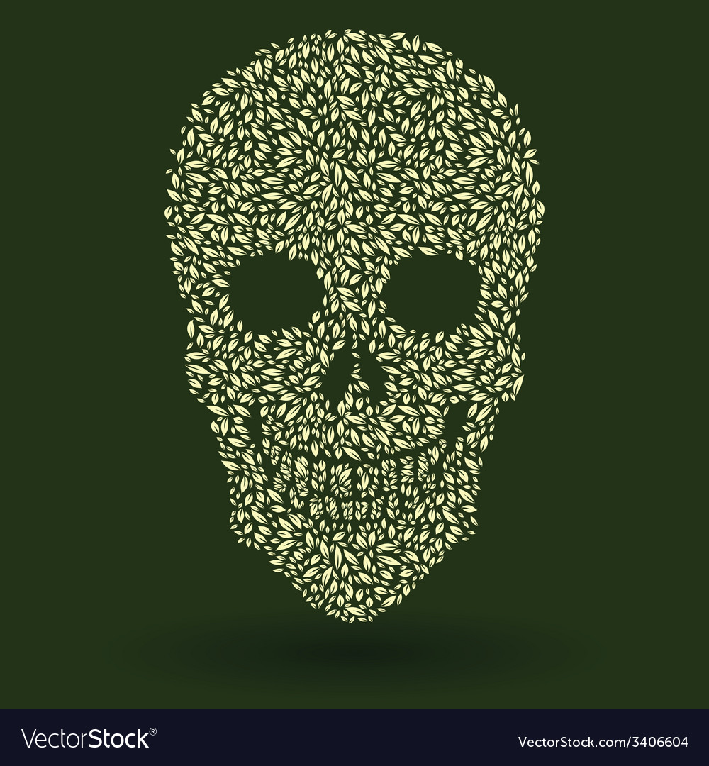Leaf skull pattern vector | Price: 1 Credit (USD $1)