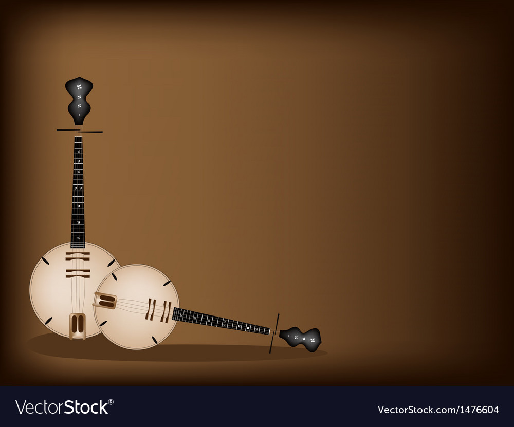 Musical dan nguyet background vector | Price: 1 Credit (USD $1)