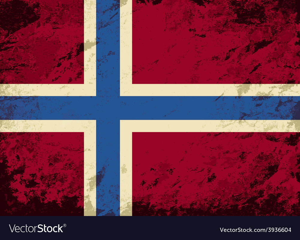 Norwegian flag grunge background vector | Price: 1 Credit (USD $1)
