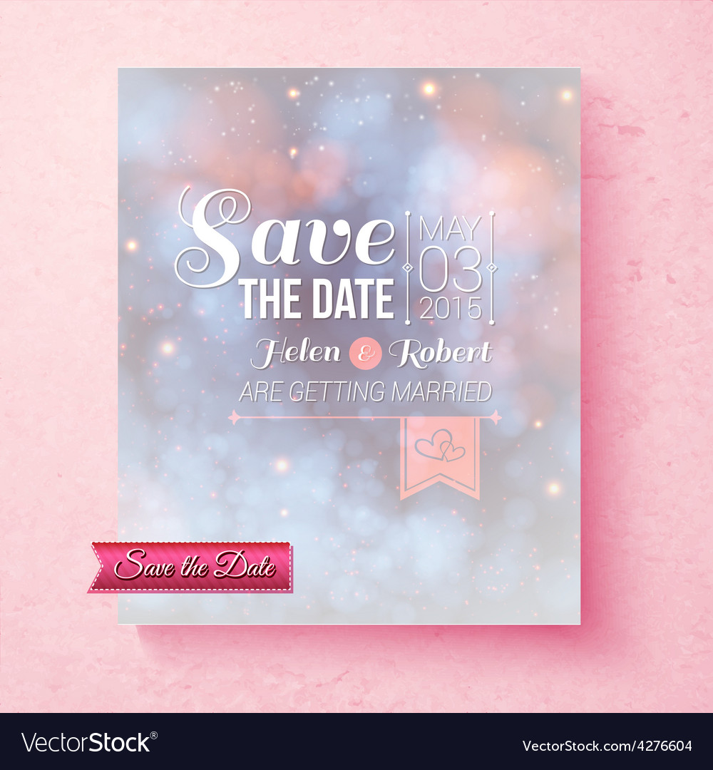 Soft ethereal save the date wedding template vector | Price: 1 Credit (USD $1)