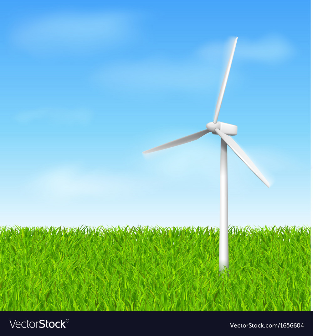 Windmill eco vector | Price: 1 Credit (USD $1)