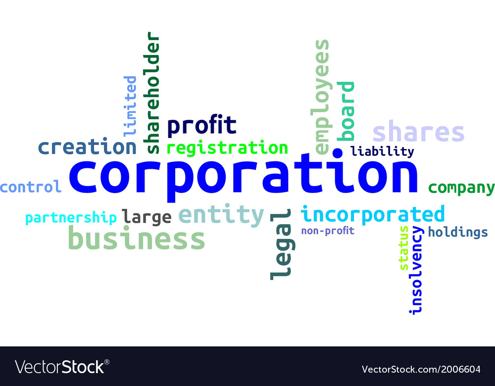 Word cloud corporation vector | Price: 1 Credit (USD $1)
