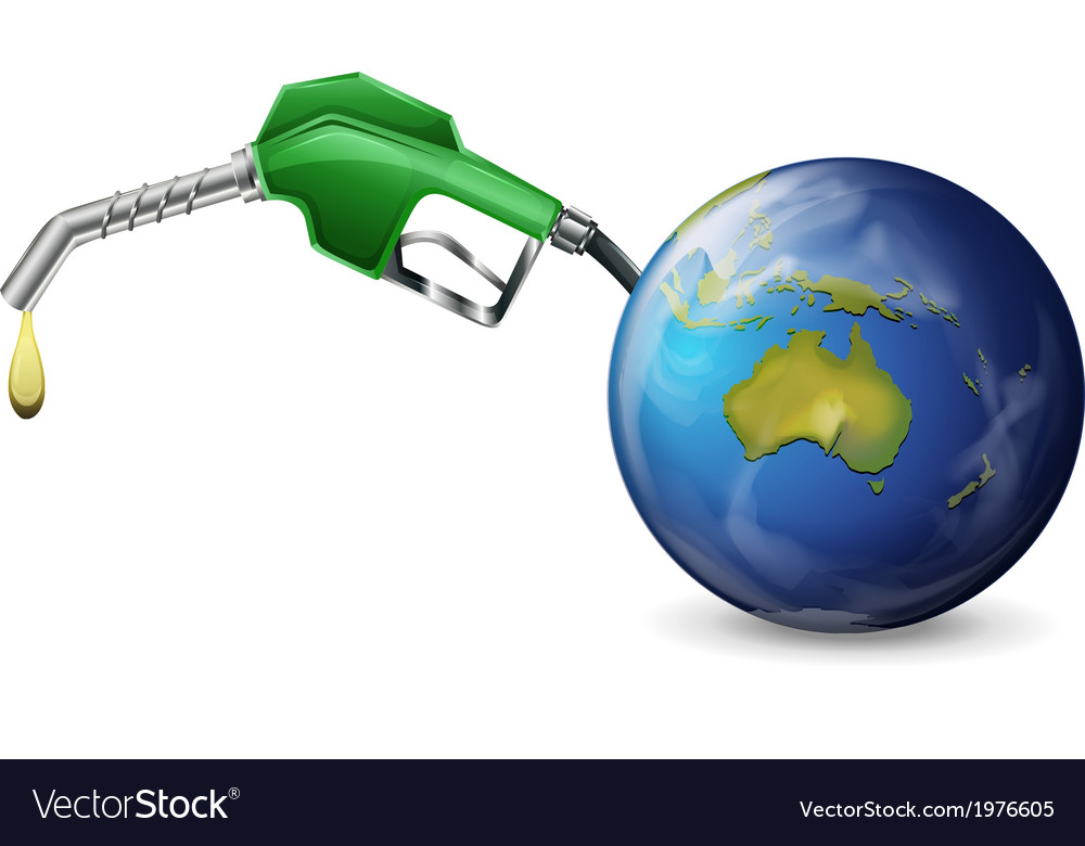 A petrol pump and a globe vector | Price: 1 Credit (USD $1)
