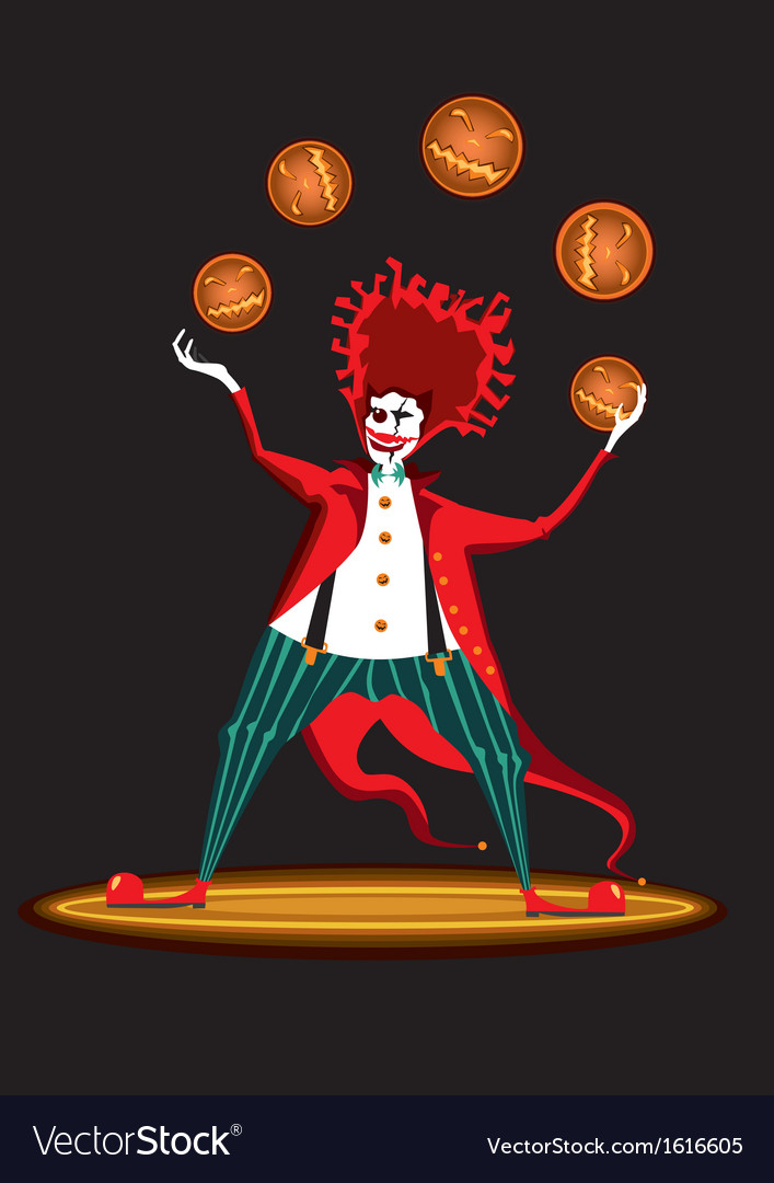 Clown from hell vector | Price: 1 Credit (USD $1)