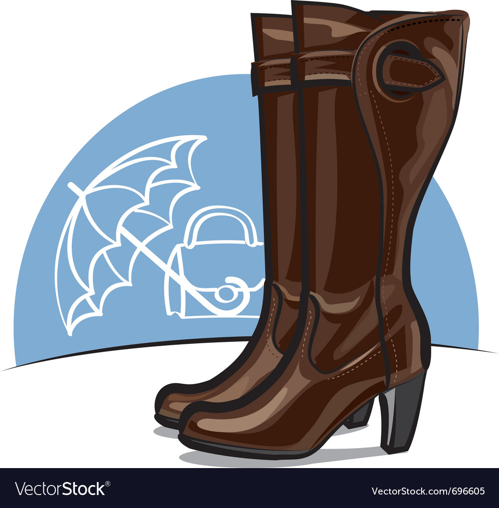 Female boots vector   Price: 3 Credit (USD $3)