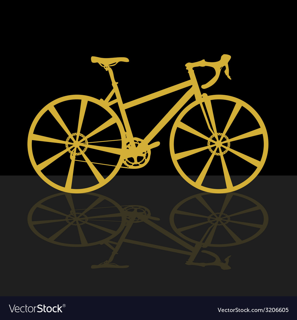 Gold bicycle on black background vector | Price: 1 Credit (USD $1)