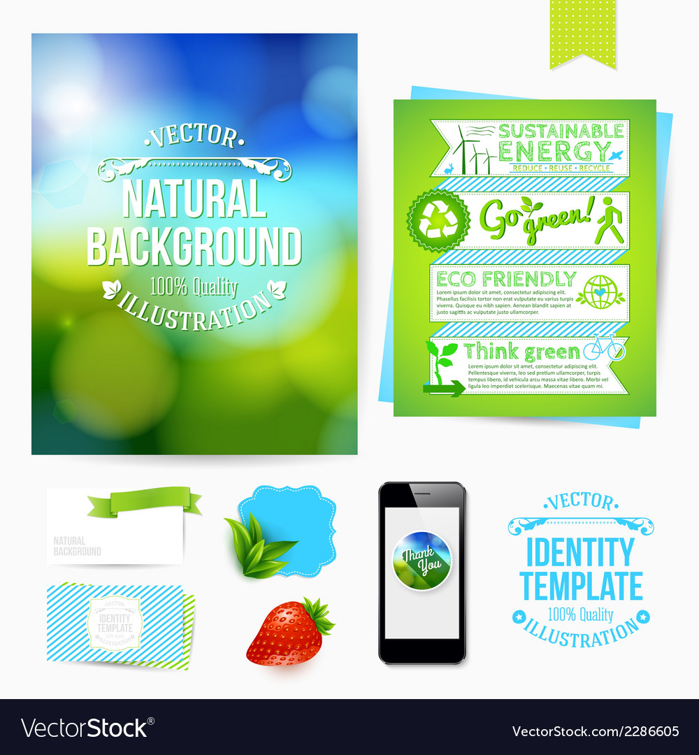 Identity design for your business eco friendly vector | Price: 1 Credit (USD $1)