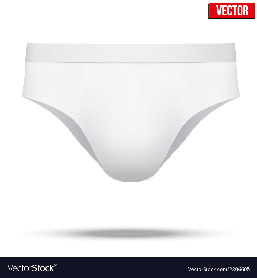 Male white underpants brief isolated on background vector | Price: 1 Credit (USD $1)