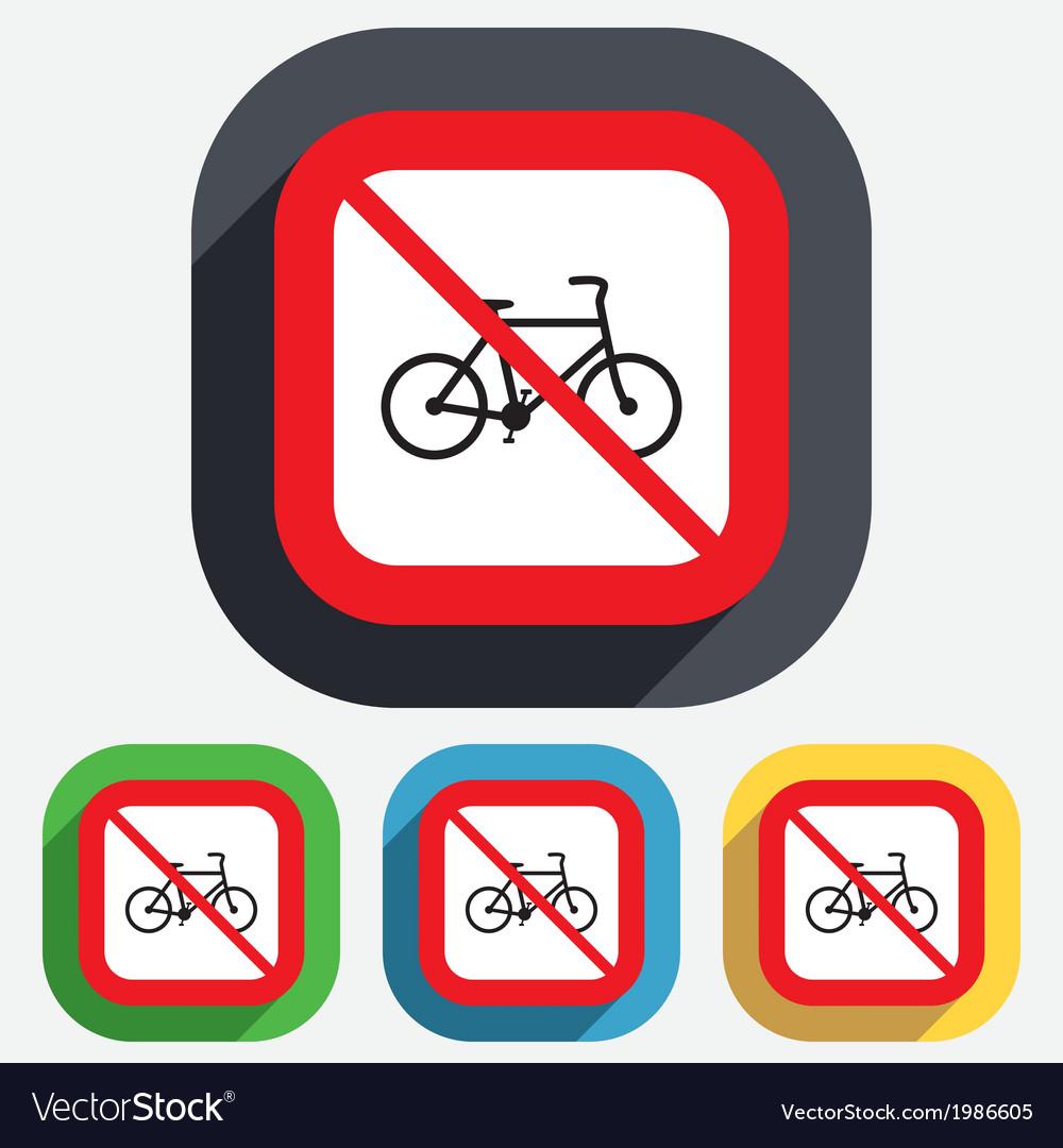 No bicycle sign icon eco delivery vector | Price: 1 Credit (USD $1)