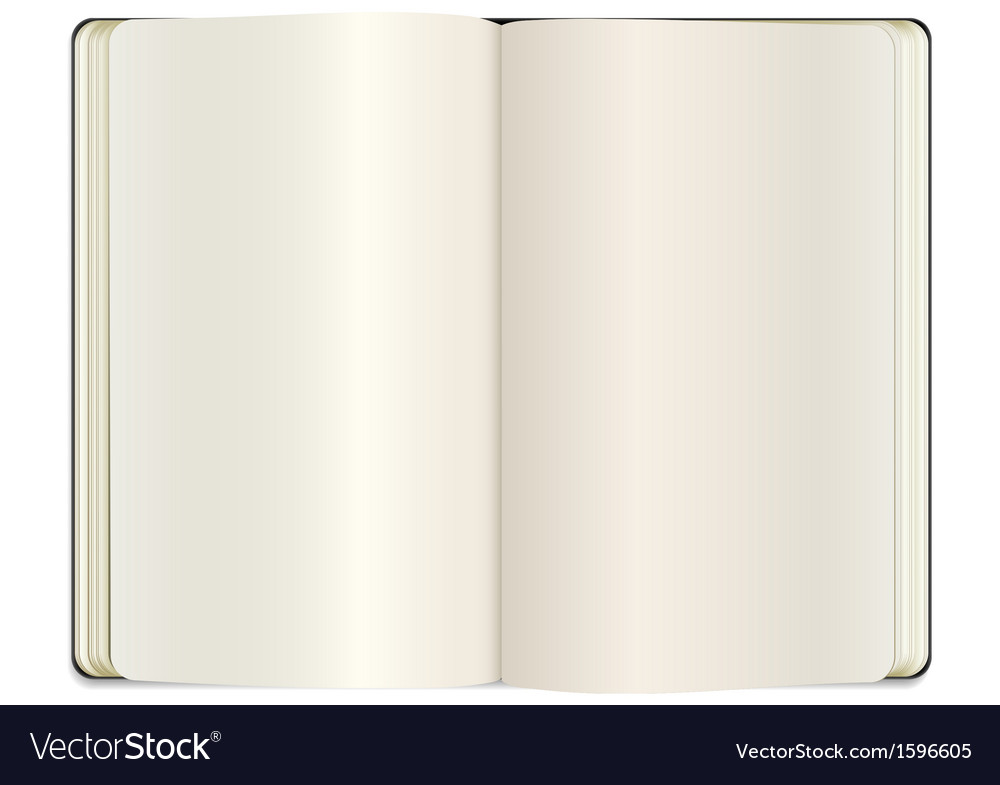 Open clear note book vector | Price: 1 Credit (USD $1)