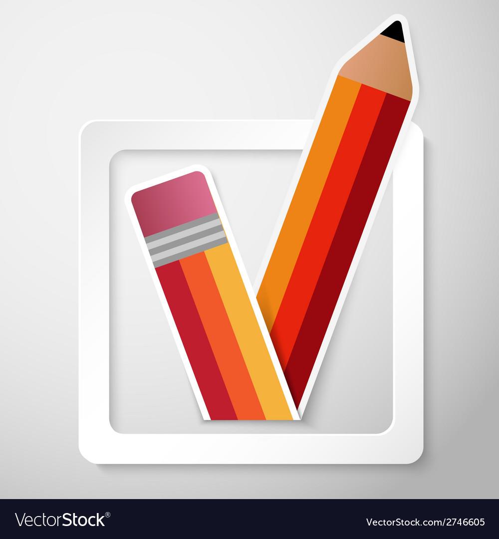 Paper check box background vector | Price: 1 Credit (USD $1)