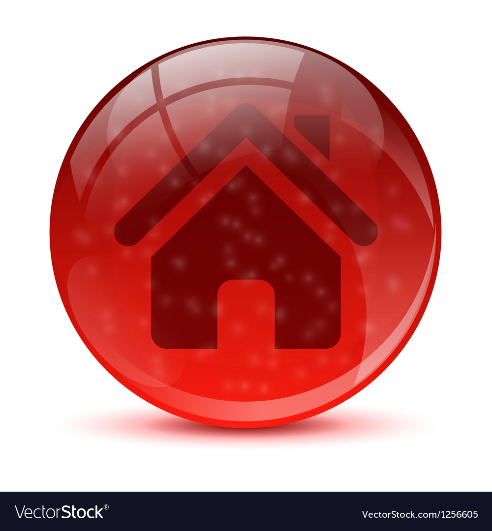Red home icon vector | Price: 1 Credit (USD $1)