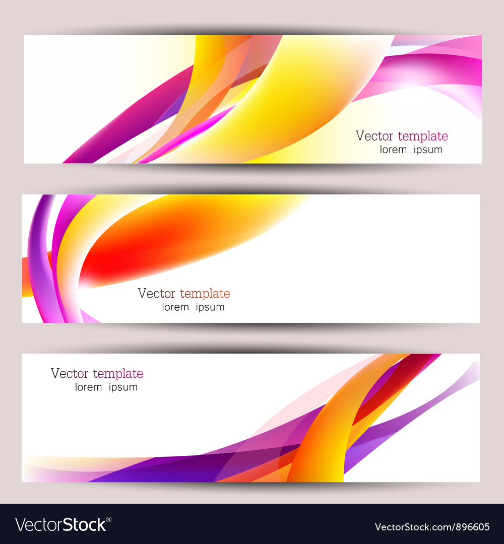 Set of three colorful banners designed in the same vector | Price: 1 Credit (USD $1)