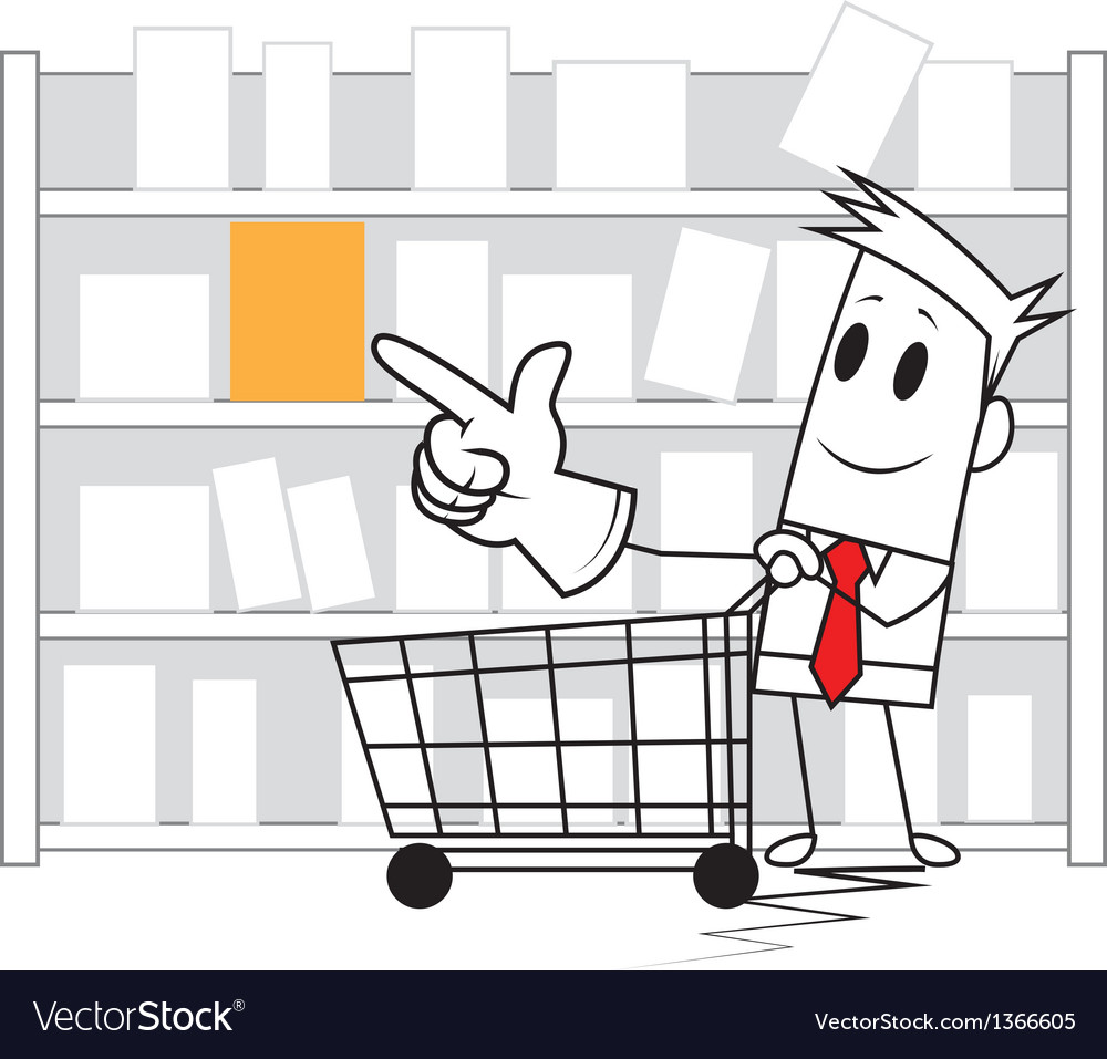 Square guy - shopping vector | Price: 1 Credit (USD $1)