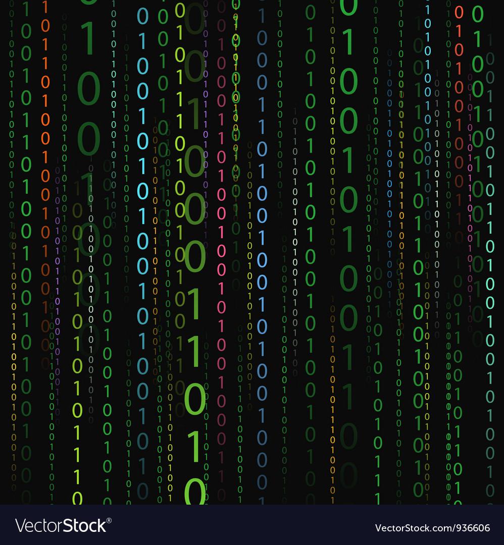 Color stream of binary codes vector | Price: 1 Credit (USD $1)