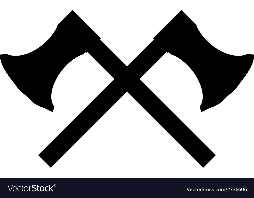 Crossed axes icon vector | Price: 1 Credit (USD $1)