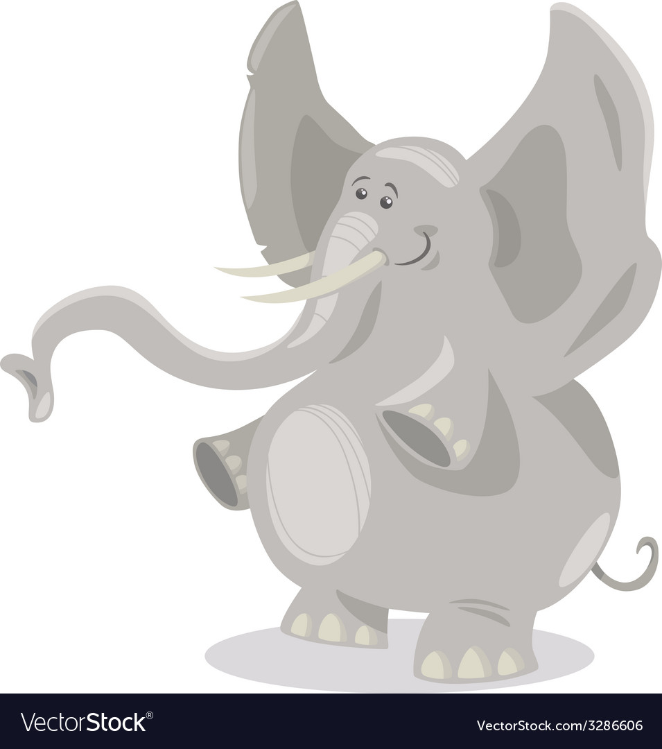 Cute elephants cartoon vector | Price: 1 Credit (USD $1)