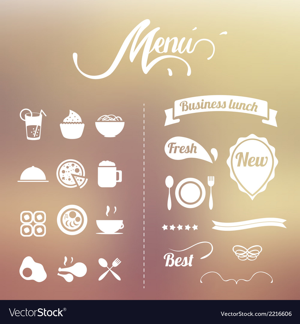 Design elements menu vector | Price: 1 Credit (USD $1)