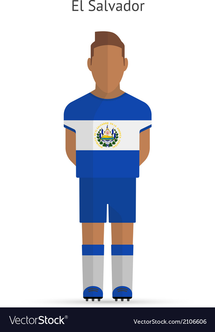 El salvador football player soccer uniform vector | Price: 1 Credit (USD $1)
