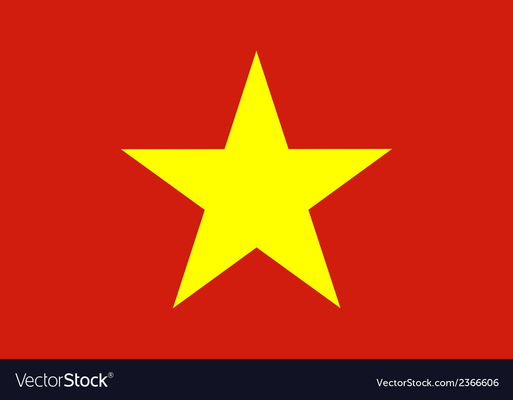Flag of vietnam vector | Price: 1 Credit (USD $1)