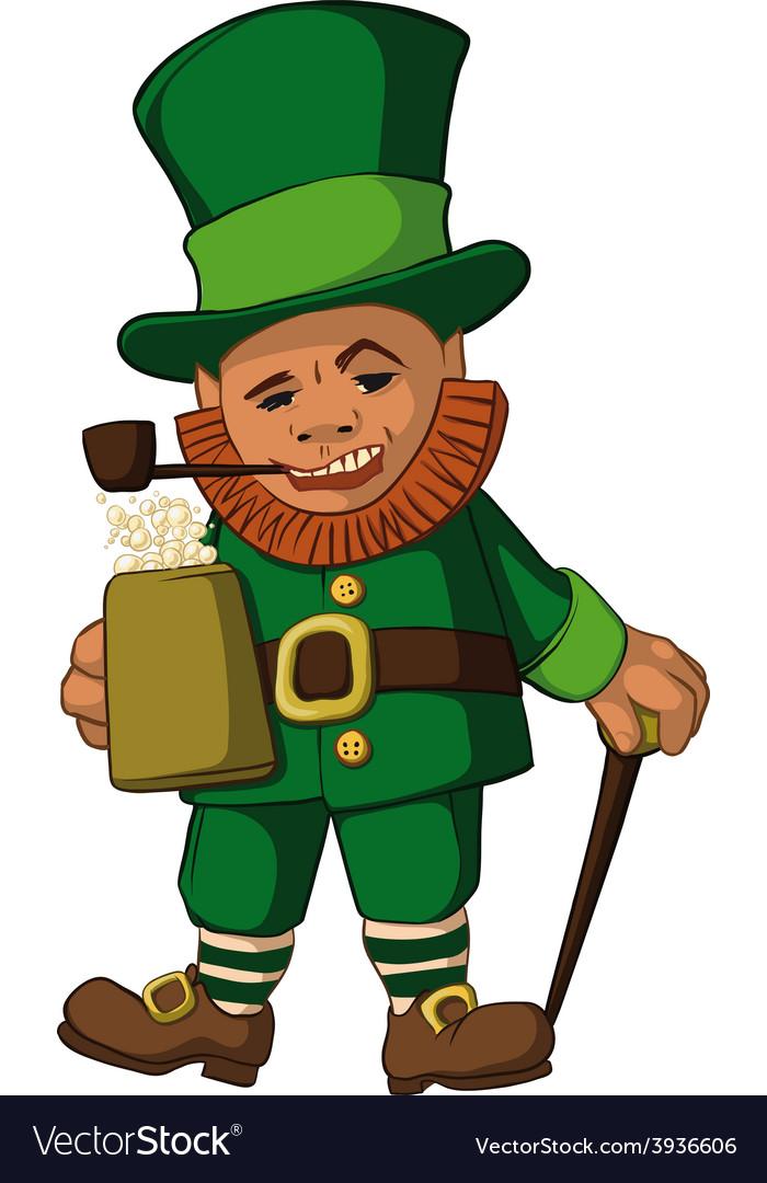 Leprechaun color vector | Price: 1 Credit (USD $1)