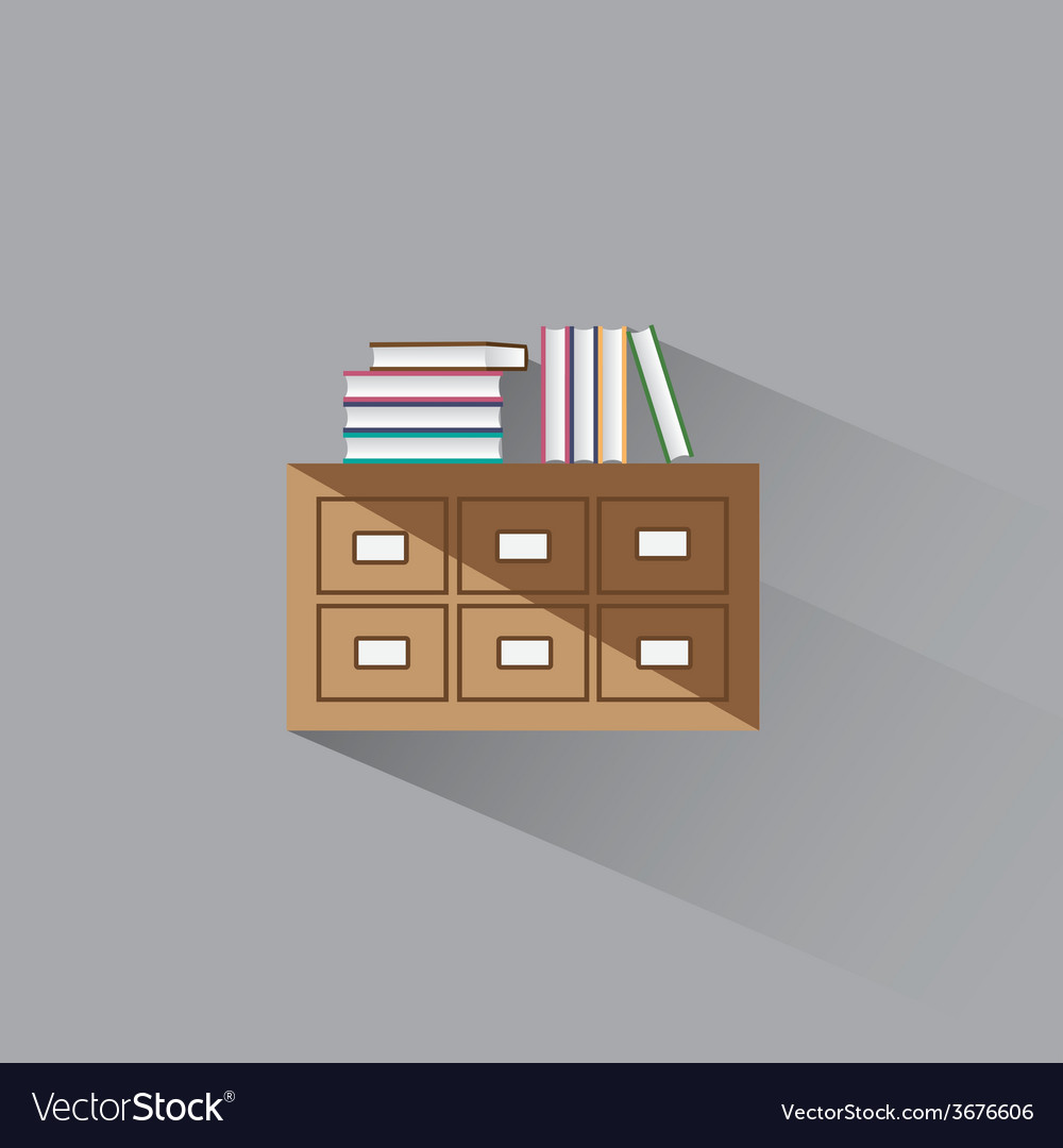 Library catalog of books vector | Price: 1 Credit (USD $1)