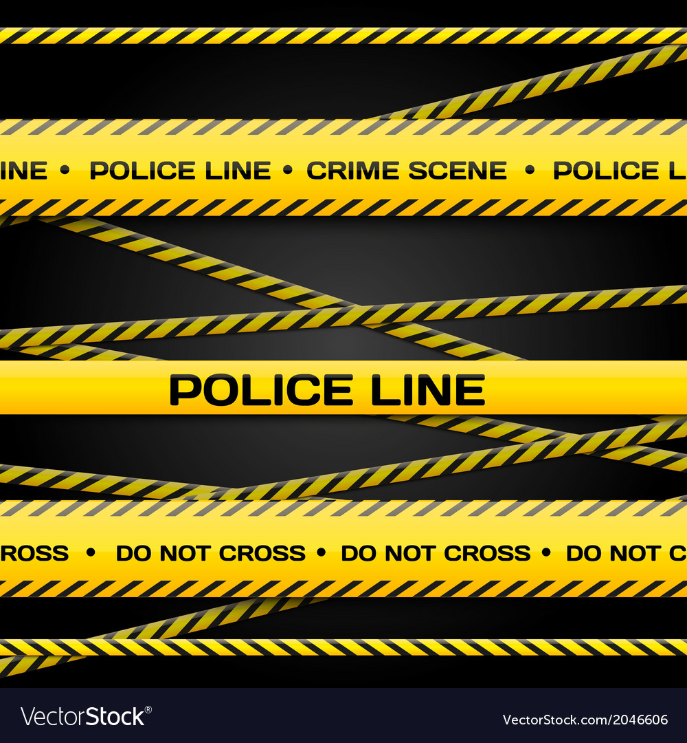 Police lines vector | Price: 1 Credit (USD $1)