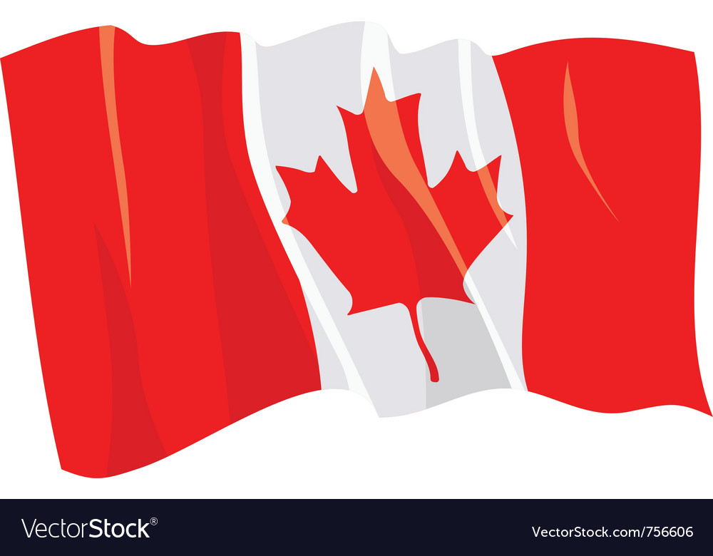 Political waving flag of canada vector | Price: 1 Credit (USD $1)