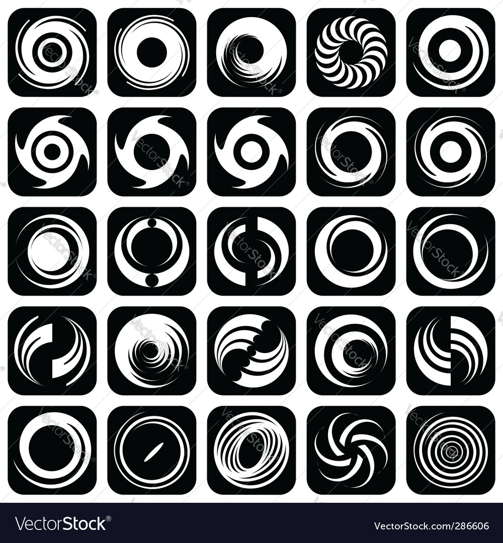 Rotation design elements vector | Price: 1 Credit (USD $1)