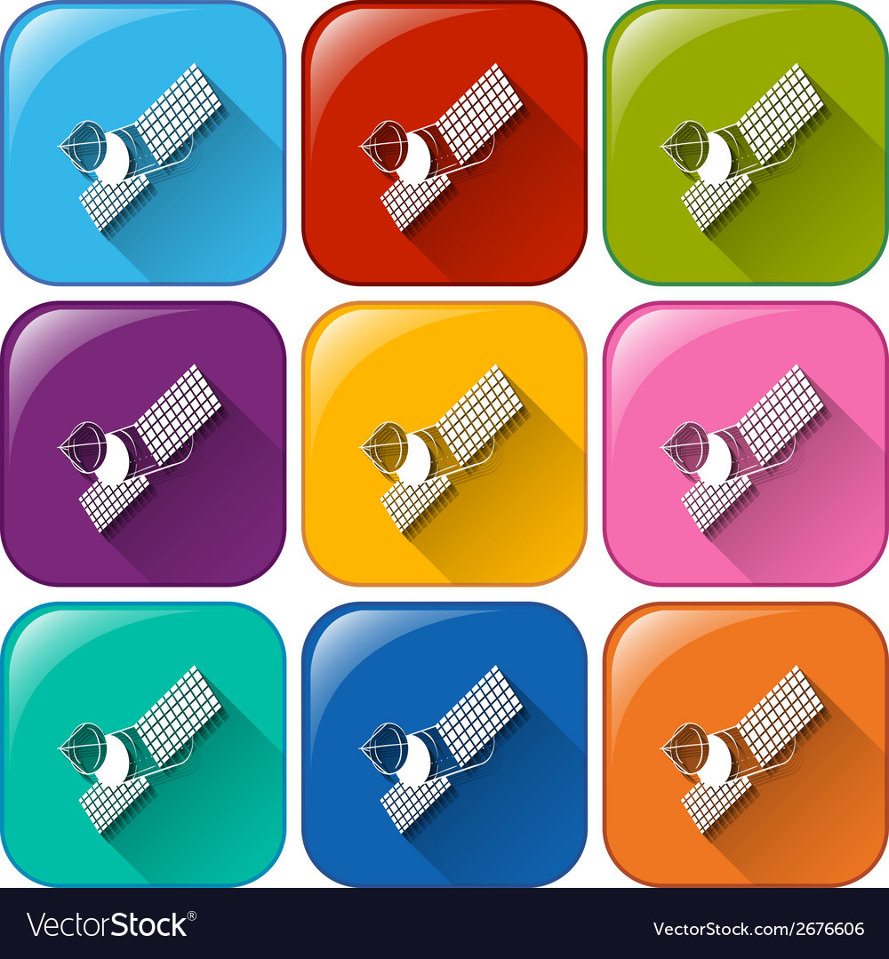 Satellite icons vector | Price: 1 Credit (USD $1)
