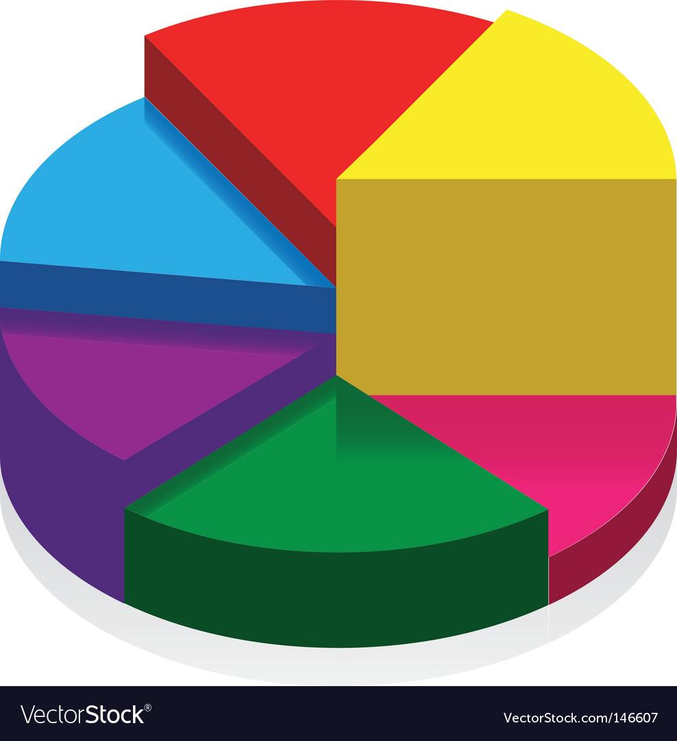 3d pie chart vector | Price: 1 Credit (USD $1)