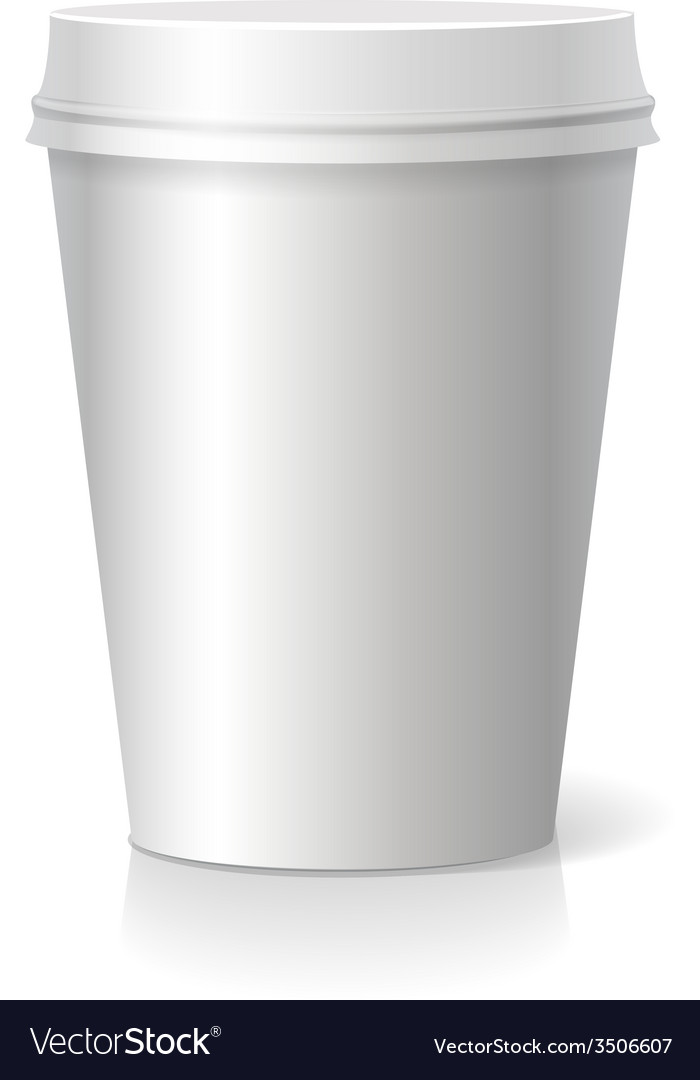 Blank paper coffee drinking cup vector | Price: 1 Credit (USD $1)